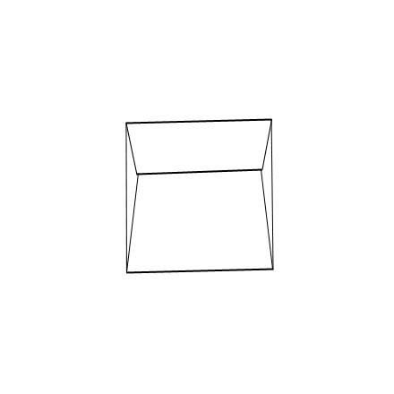 Enveloppes blanches 15x15 cm