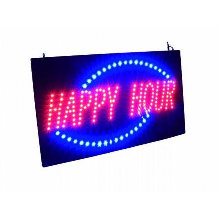 Enseigne LED «Happy Hour »