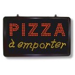Enseigne LED PIZZA A EMPORTER
