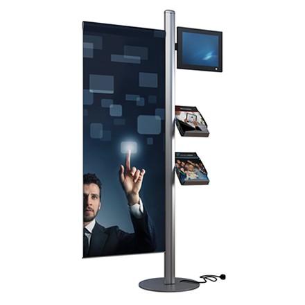 Mât LCD pour 2 brochures