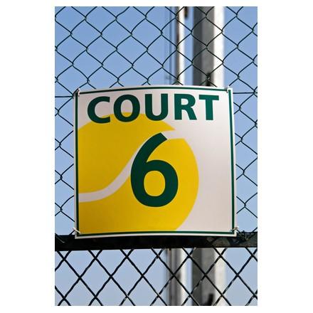 Panneaux n° de court