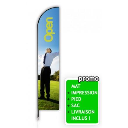 Voile beach flag 4,5 mètres