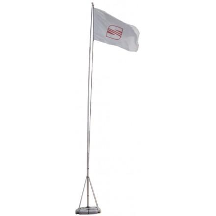 Mât drapeau 7 mètres sur pied