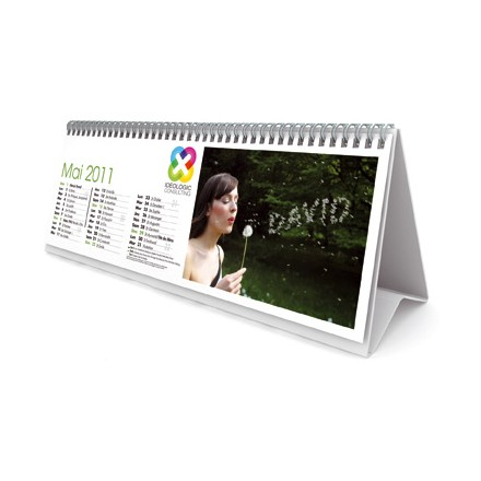 Calendrier de table (30 x 10,5 cm)